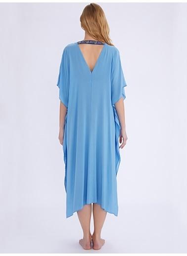 Ayyıldız Plaj Elbisesi Mavi